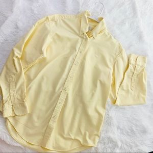 Brooks Brothers Yellow Button Up Blouse